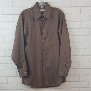 Geoffrey Beene Sateen Button Down Shirt